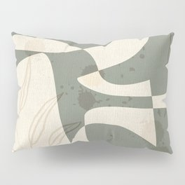 Abstract - Vase Shapes in Artichoke Green Pillow Sham