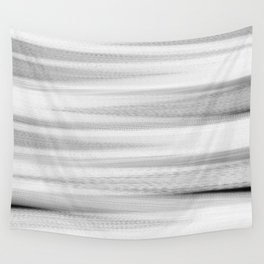 Black and White Stripes Abstract Wall Tapestry
