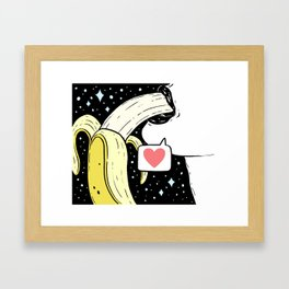 Space Banana Babe Framed Art Print