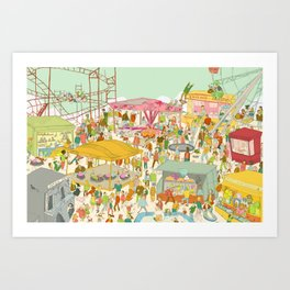 The funfair Art Print