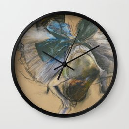 "Edgar Degas ""Dancer arranging her shoe"" Wall Clock"