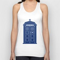 blueprint Tank Tops featuring TARDIS Blueprint - Doctor Who by BeckiBoos