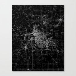 Tulsa map Oklahoma Canvas Print