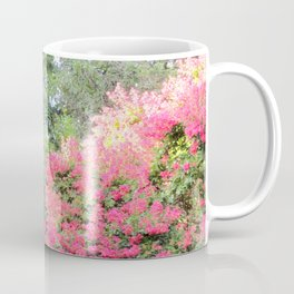 Surrounded by Pink Flowers Coffee Mug
