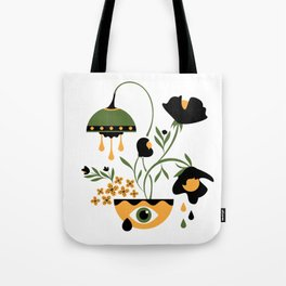 Sad Funky Flowers Tote Bag