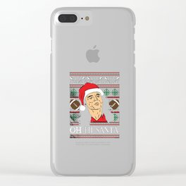 Oh Hi Santa Clear iPhone Case