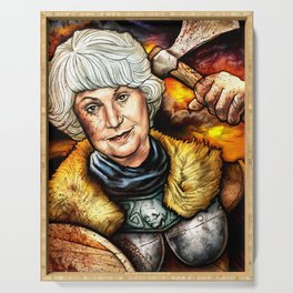 """""""Picture it: Sicily 1061"""" Golden Girls- Bea Arthur Serving Tray"""