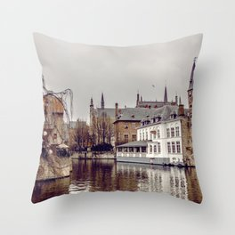 Brugges, Belgium Throw Pillow