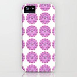 Collage of pink madalas iPhone Case