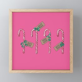Mean Girls Candy Cane-Grams - Four For You GC, You Go GC! Framed Mini Art Print