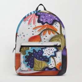 Chickadee Garden Floral Backpack