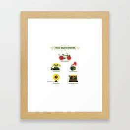 ORGANIC INVENTIONS SERIES: Vintage Organic Inventions Framed Art Print