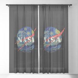 Starry Nasa Sheer Curtain