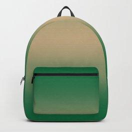 Cadmium Green to Tan Brown Bilinear Gradient Backpack