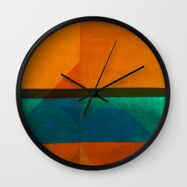 Pedaling in the Beachfront Wall Clock