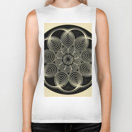 Antique Spiral Geometry Biker Tank