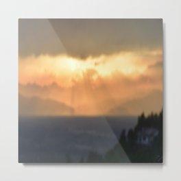 Torino Sunset Metal Print