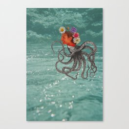 Octopus & Me Canvas Print