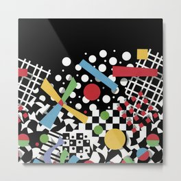Ticker Tape Geometric Metal Print