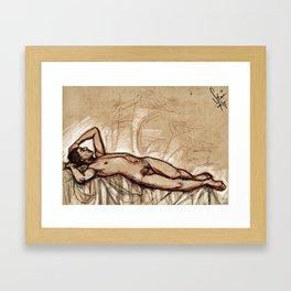 Bully tenderness Framed Art Print