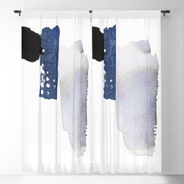 Navy Blue Abstract Blackout Curtain