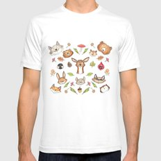Woodland Kaleidoscope Mens Fitted Tee White SMALL