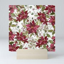 Poinsettia Flowers Mini Art Print
