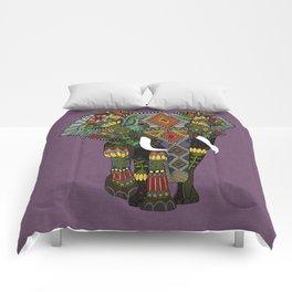 floral elephant violet Comforters