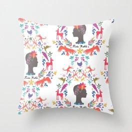 Frida Cameo in Blanca Throw Pillow