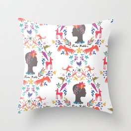 Frida Cameo in Blanca Throw Pillow