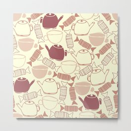 Sweet Tea Pattern Metal Print