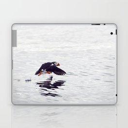 Puffin approaching! Laptop & iPad Skin