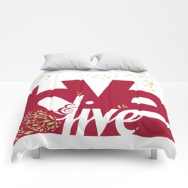Love & Live (leaves 1) Comforters