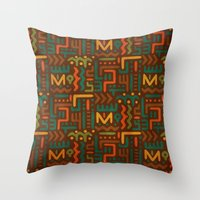 african Throw Pillows featuring African by Arcturus