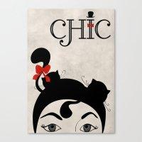 chic Canvas Prints featuring Chic by Aleksandra Mikolajczak