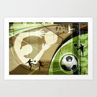 soccer Art Prints featuring Soccer by Robin Curtiss