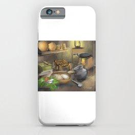 Punjabi village kitchen iPhone Case