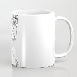 Cricket Batsman Batting Doodle Art Coffee Mug