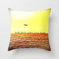 bon iver Throw Pillows featuring PERTH- BON IVER by Michelle Pitiris