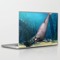 dolphin Laptop & iPad Skins featuring Dolphin by Design Windmill