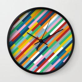 Bricks Rotate 45 Wall Clock