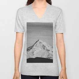 Mount Hood - Snow Capped Mountain Adventure Nature Photography Unisex V-Neck
