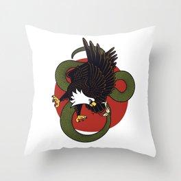 Eagle Vs Snake Throw Pillow