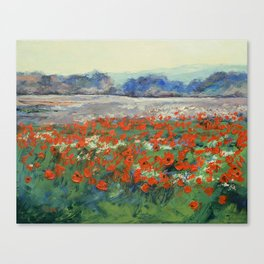 Poppies in Flanders Fields Canvas Print
