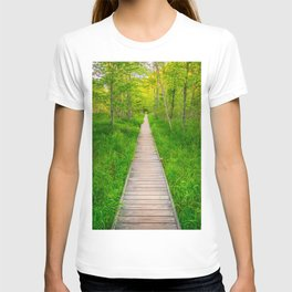 Hiking Trail in Acadia National Park Boardwalk T-shirt