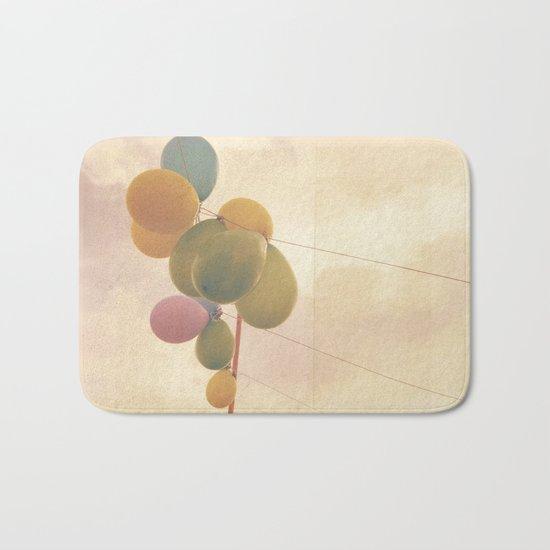 The Vintage Balloons Bath Mat