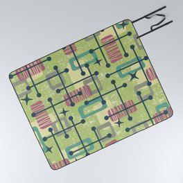 Mid Century Modern Abstract Pattern 832 Picnic Blanket