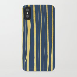 Vertical Living Navy and Gold iPhone Case