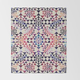 Sri Yantra  / Sri Chakra Pattern - Paint texture Throw Blanket
