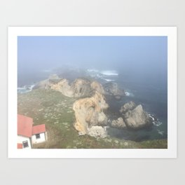 foggy coast Art Print